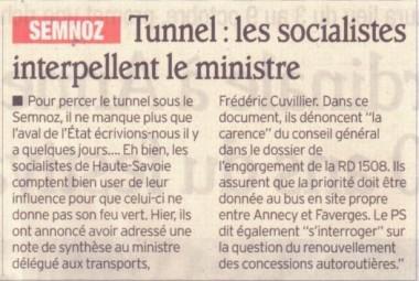 socialistes,tunnel,semnoz,transport,aeroport,meythet,avenir,travail,