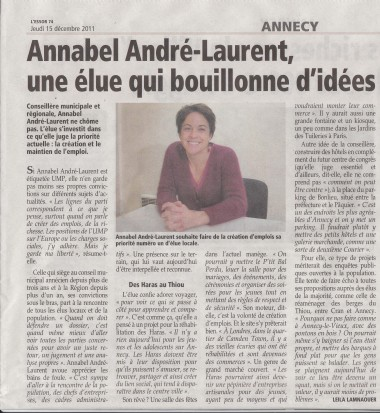 politique,annecy,annabel,andre,laurent,agglomeration,idées,projets,haras