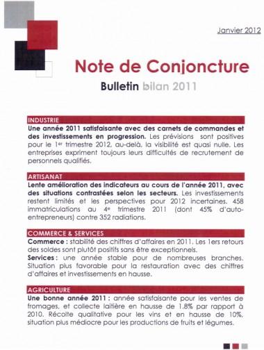 note,conjoncture,haute,savoie,bilan,2011,économie,information